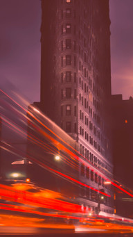 City Lights  At Night Abstract