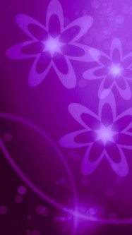 Purple Composition With Creative Flower Shapes