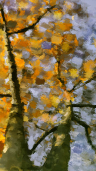 Colors Inspiration In  November Watercolor Painting With Yellow