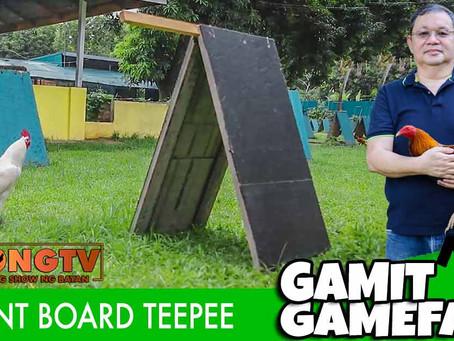 Cement Board Teepee on Gamit Gamefarm (July 18, 2021)