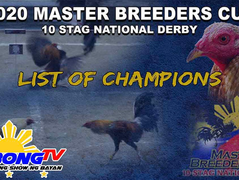 Master Breeder's Cup 10-Stag National Derby Champs (December 26, 2020)