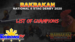 Bakbakan National 8-Stag Derby 2020 Champs (December 26, 2020)
