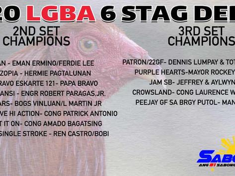 Sunud-Sunod na Tagumpay ng LGBA 6-Stag Sabong Derby (November 29, 2020)