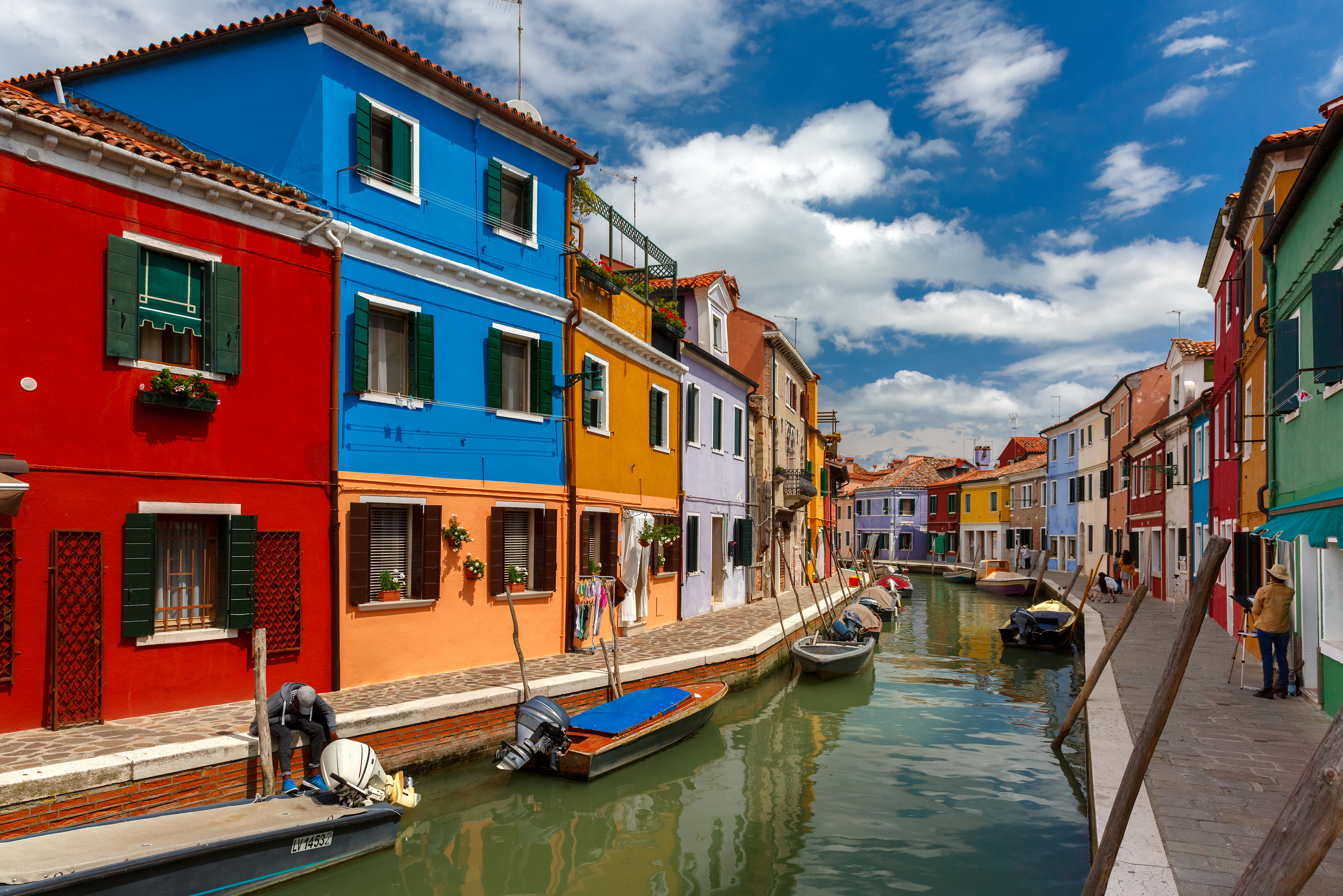 Colorful houses on the Burano, Venice
