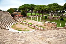 ancient roman theater, ostia antica