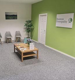 Beeston Osteopathy waiting room