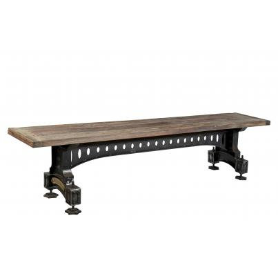 Industrial dining table bench
