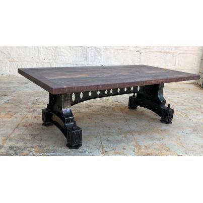 Reclaimed Wood Metal Coffee Table