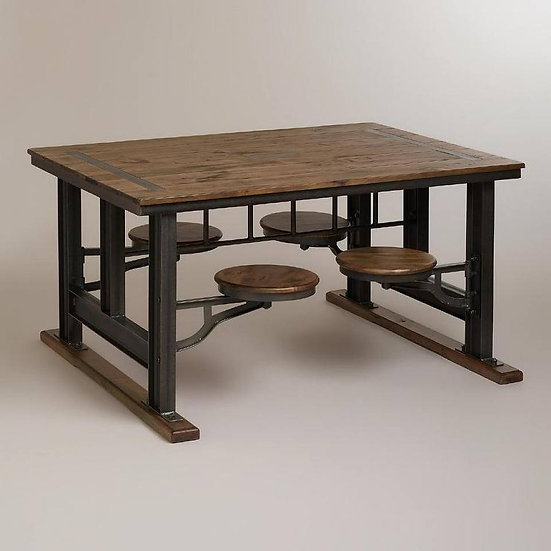 SWING OUT STOOL DINING TABLE