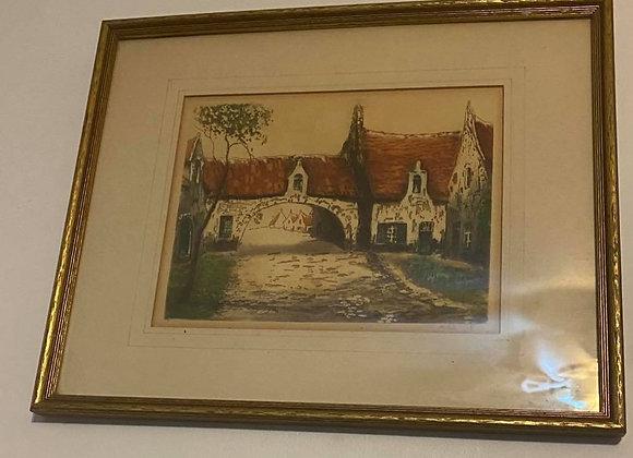 Signed Antique Framed Print