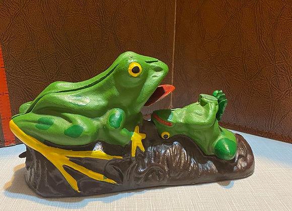 Vintage Cast Iron Frog Bank