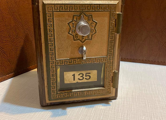 Vintage Post Office Lock Box Coin Bank