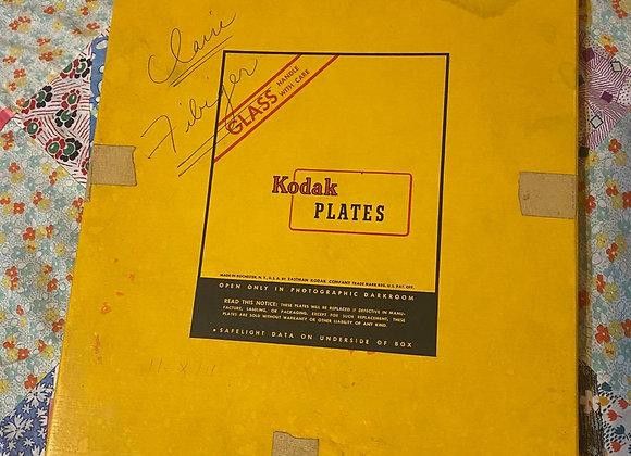 Vintage Kodak Glass Plates