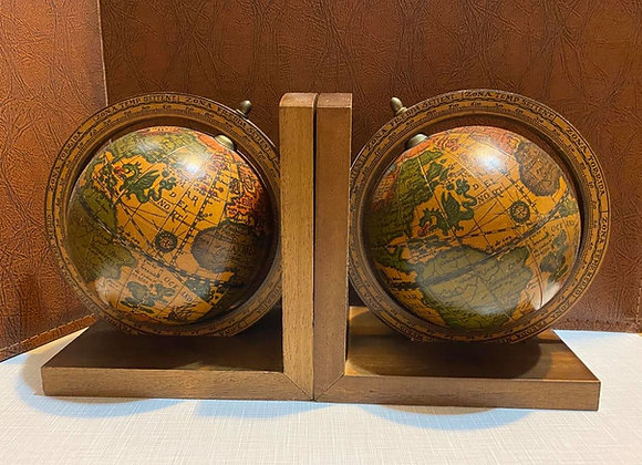 Vintage Globe Bookends