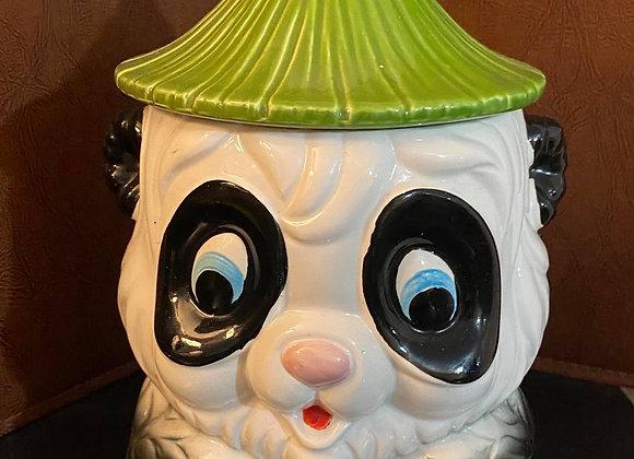 Vintage Panda Cookie Jar