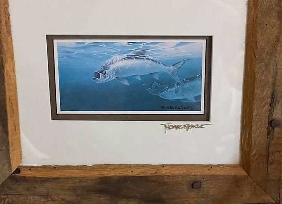 Signed Thomas Krause Fish Print