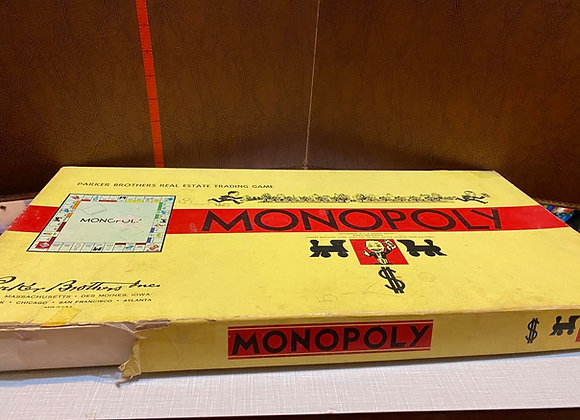 1950's Vintage Monopoly Board Game