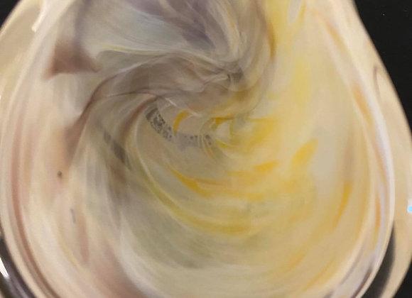 Yellow & Purple Murano Glass Dish