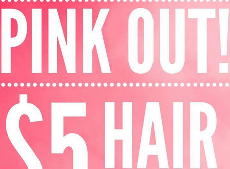 $5 Pink Strands for Mammograms!