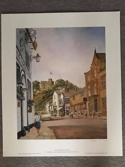 CASTLE STREET - CLITHEROE. Unmounted, Signed Print