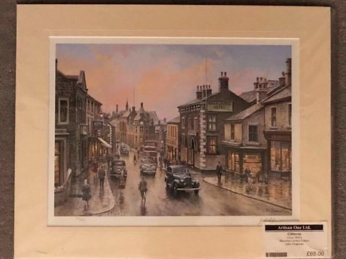 Castle Street, Clitheroe Limited Edition by John Chapman