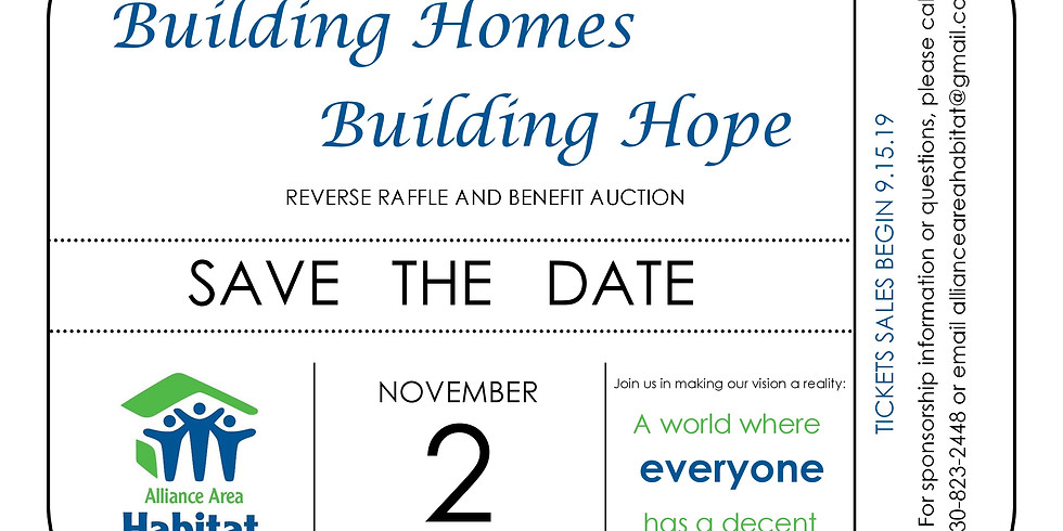 Annual Building Homes, Building Hope