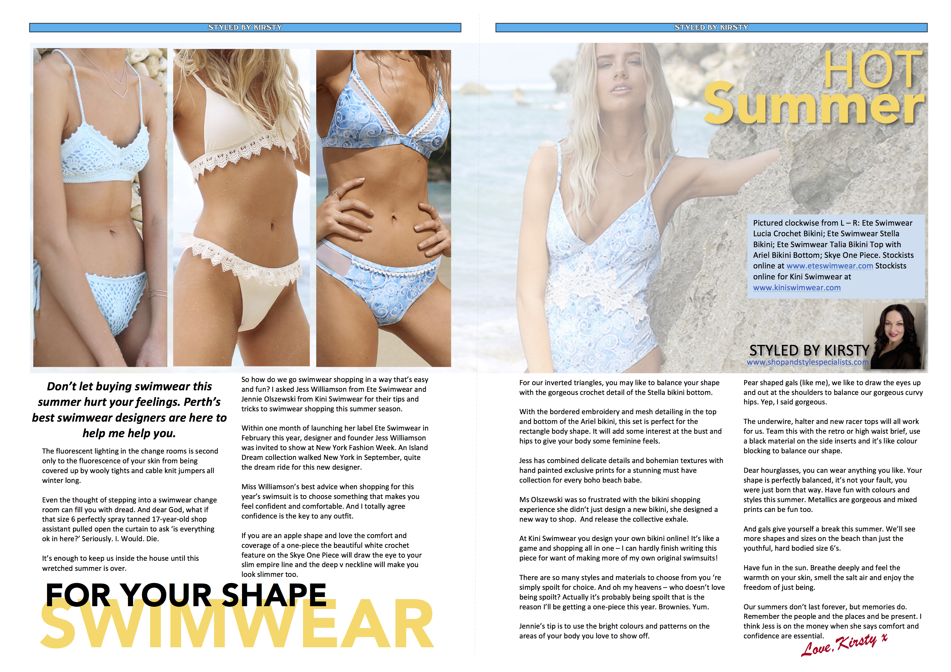 Swan Magazine Swimwear Styling copy