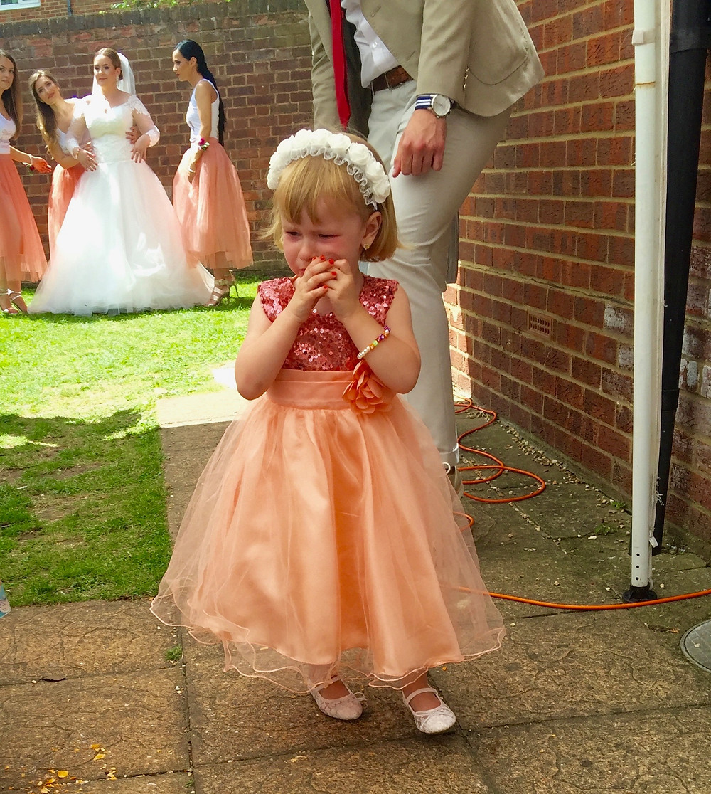 Wedding Creche, A child get emotional, starts having different tantrums , happy, crying, upset, child