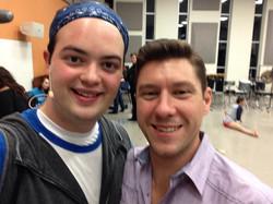 Dallas & Justin Boccitto Backstage