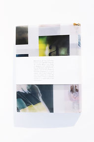 What If Back Cover of Book Design whit Multiple Pictures Printed on Transparent Paper by Demi Horsman