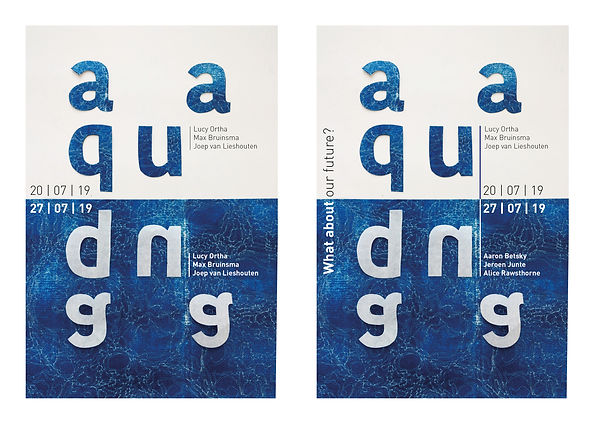 Affiche Aqua Graphic Design Proces and RisoGraph Experiment by Demi Horsman