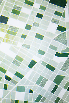 Risoprint Map Mapping and Information Design Printed in Risograph Green Landscape by Demi Horsman
