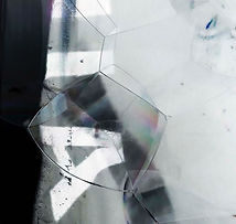 Water Pollution Visualized Typography with Polluted Water Grey and White Bubble Structure by Demi Horsman
