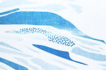 Risoprint Map Detail of Risograph Raster and Structures Blue Water by Demi Horsman