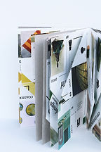 Visual Dictionairy Book Design Interactive Structure with Folded Pages and Visual Translation of Art Orginized by Color and Visualized with Icons by Demi Horsman
