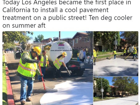 Painting streets white.  Great marketing, terrible idea.