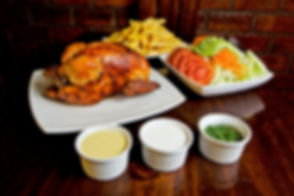 pollo-a-la-brasa-with-salad-and-dipping-