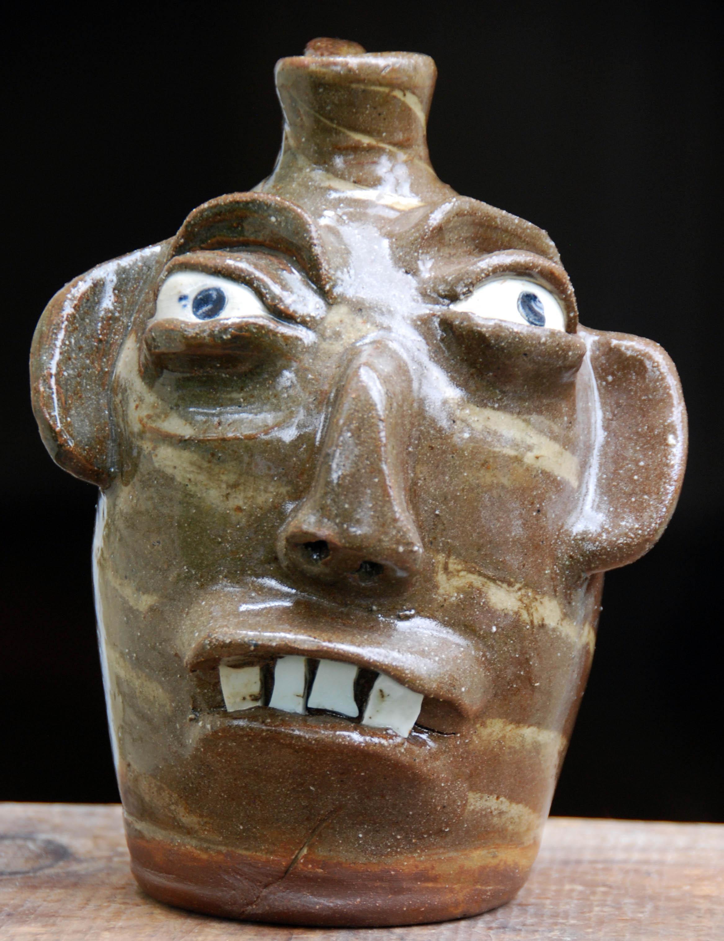 B.B. Craig - Swirl Face Jug - 8 inches