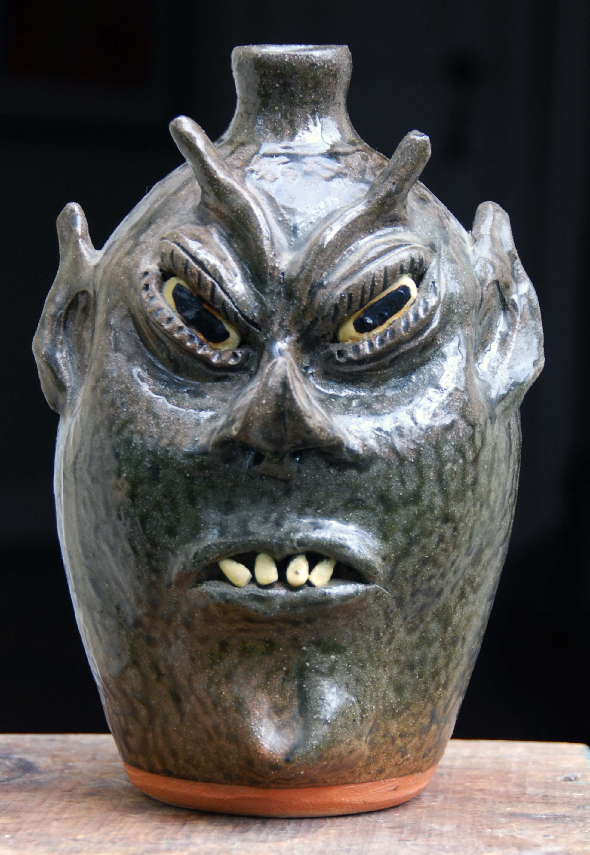 Cleater Meaders - Devil Face Jug - 10 inches