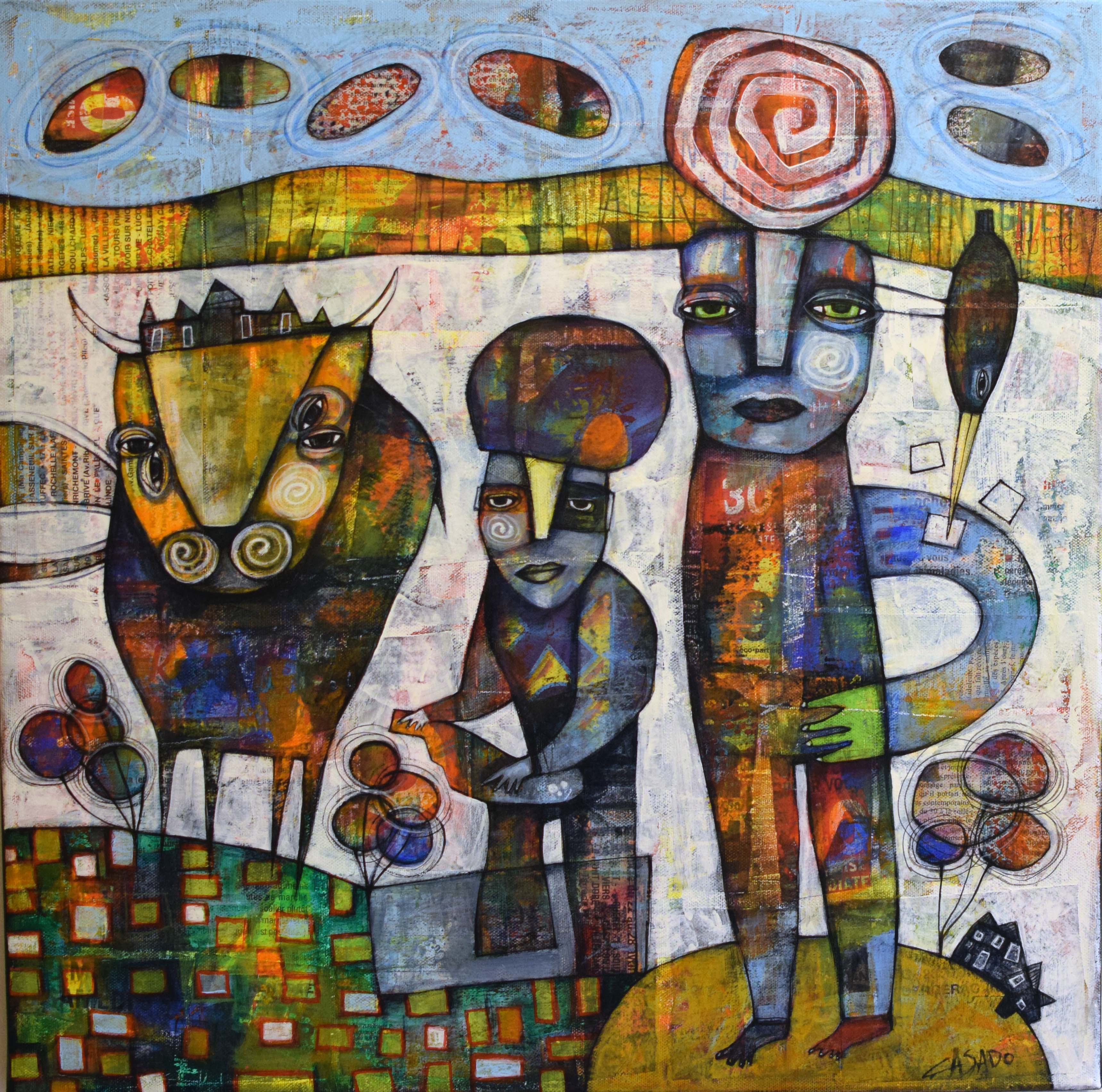 "Meeting  19.5"" x 19.5"" SOLD"