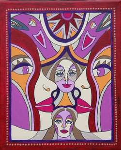 Woman With The Mauve Snakes