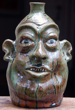Marvin Bailey - Face Jug - 11 inches