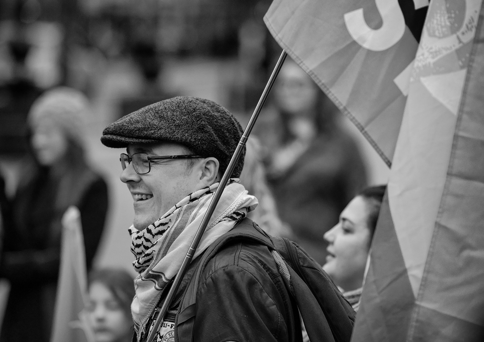 MONO - Flying The Flag by Brian Maguire (6 marks)