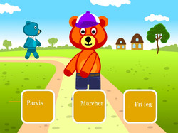 Gå march med bjørnen