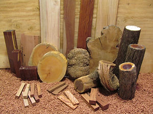 Timber blanks, billets and pieces for woodcraft
