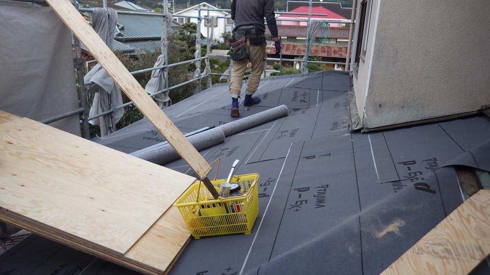屋根の吹き替え工事