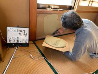 京壁に開いた穴の補修
