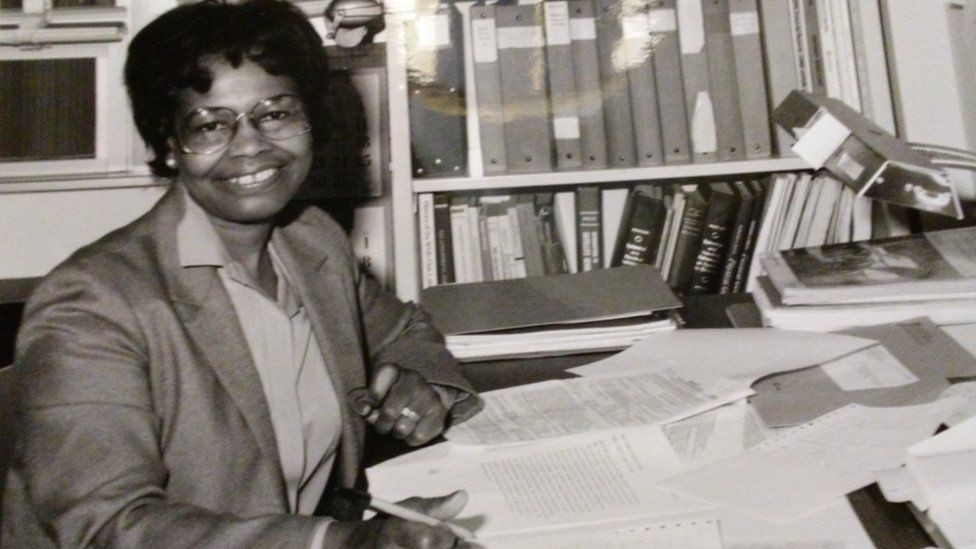 Founding woman of tech, Dr. Gladys West, with her STEM research