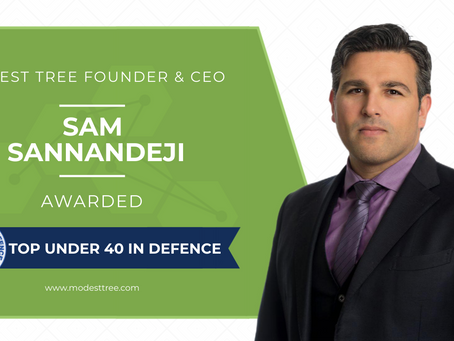 Modest Tree's Sam Sannandeji Recognized as CDR 2020 Top Aerospace & Defence Professional Under 40