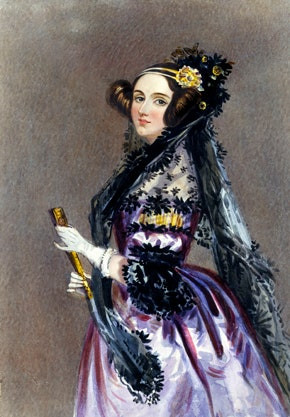 Painting of Ada Lovelace, founding woman of tech